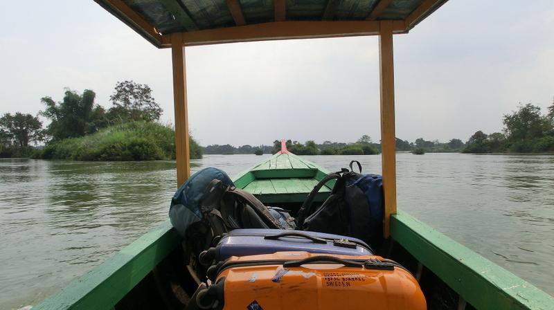 Mit dem Boot zur Inseln Don Khon