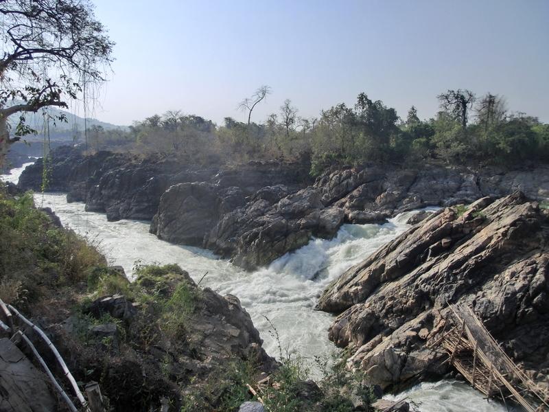Der Mekong - Li-Phi-Wasserfälle Laos