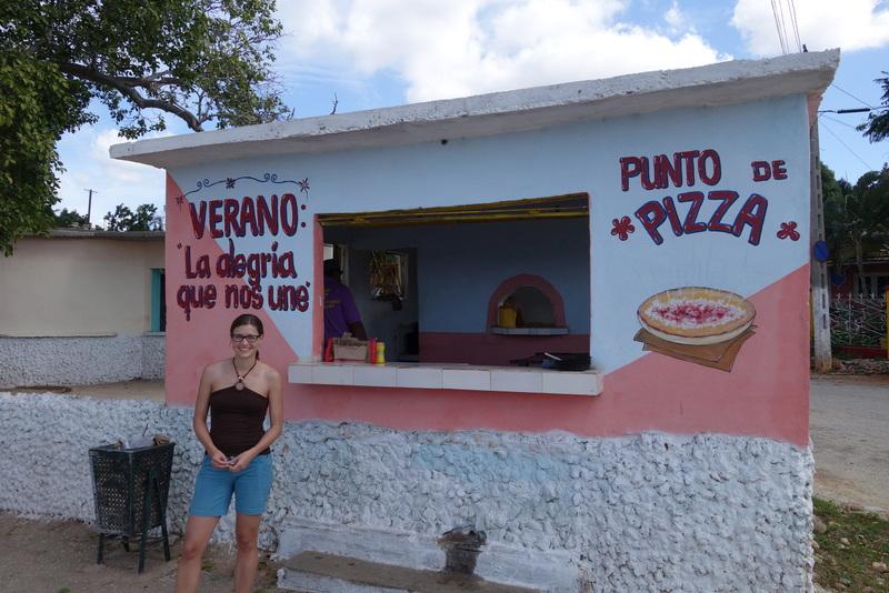 Pizzastand in La Boca