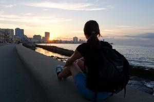 Sonnenuntergang Malecon Kuba