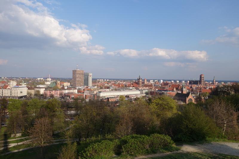 Blick vom Hagelsberg auf Danzig