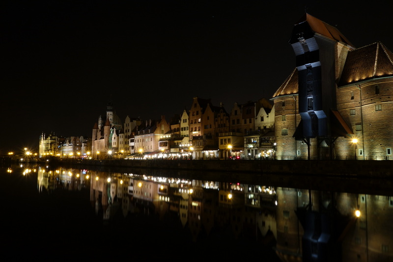Uferpromenade bei Nacht Danzig