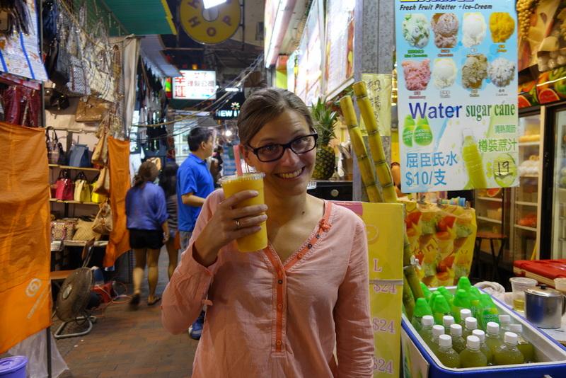Mango Shake auf dem Temple Street Night Market