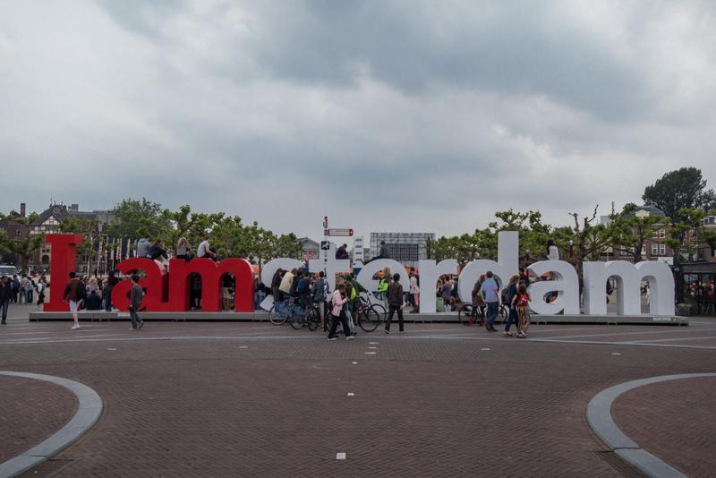 I am Amsterdam Schriftzug