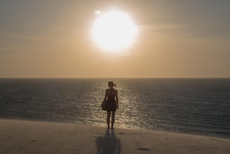 Jericoacoara Brasilien Nordosten Sonnenuntergang