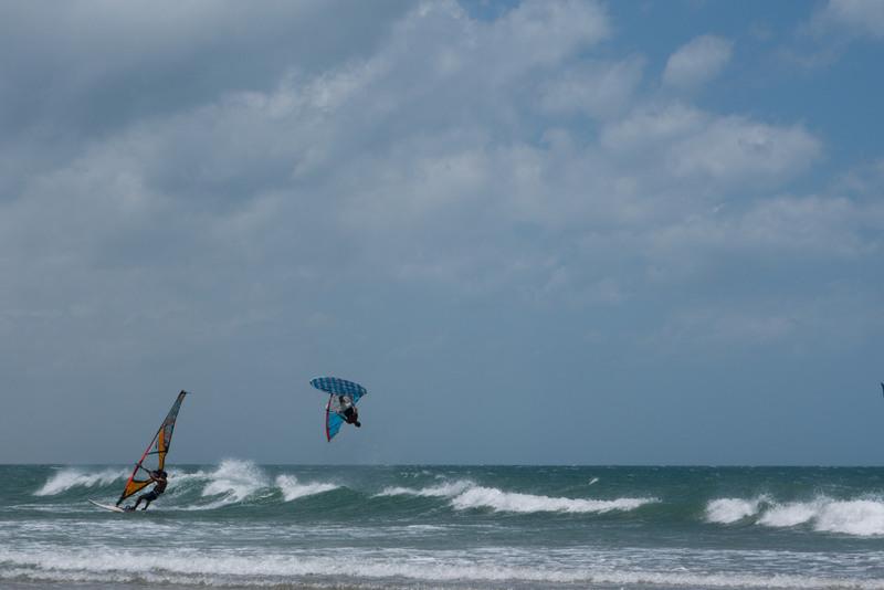 Jericoacoara Brasilien Nordosten Windsurfer