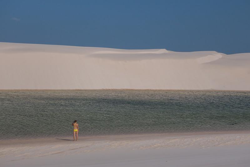 Lagune im Lençóis Maranhenses Nationalpark in Brasilien