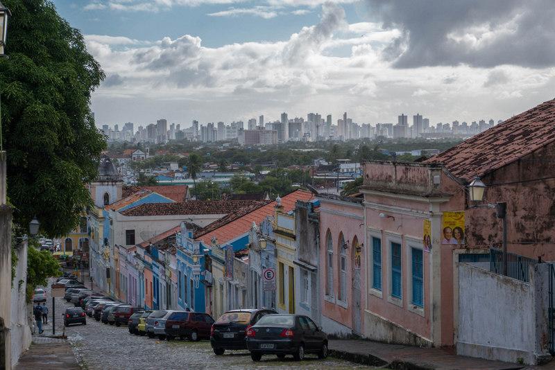 Olinda Brasilien Blick nach Recife