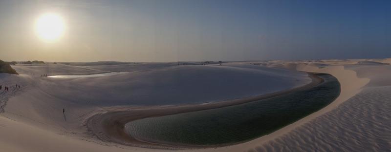 Panorama Lagune Lençóis Maranhenses NP, Brasilien