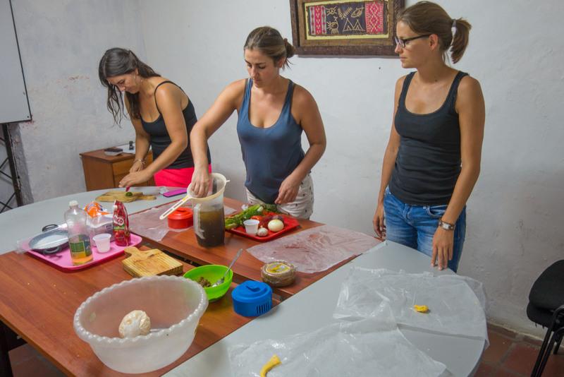 Kochstunde Sprachschule Cartagena