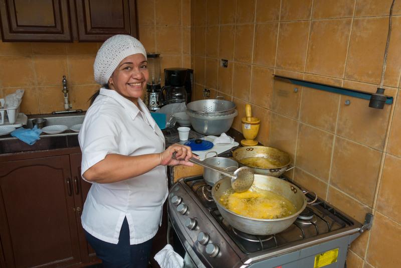 Kochstunde in der Sprachschule Cartagena