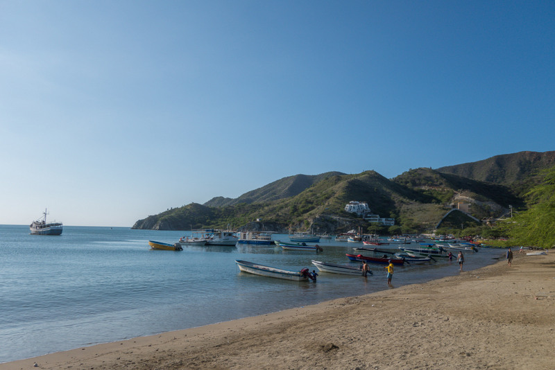 Fischerdorf Taganga Kolumbien Karibikküste