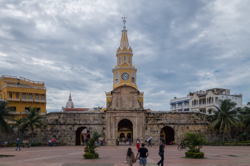 Karibikküste Kolumbien Cartagena Stadtmauer