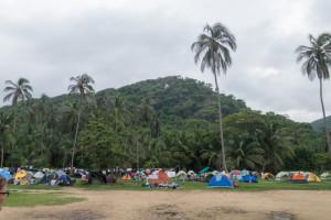 Tayrona Nationalpark Campingplatz Karibikküste Kolumbien