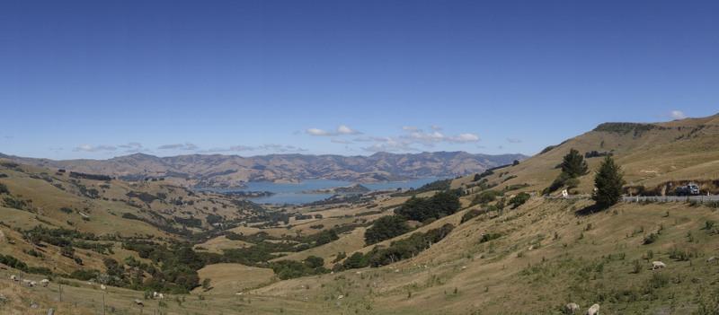 Aussicht Banks Peninsula Neuseeland Südinsel Highlight