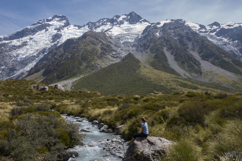 Hooker Valley Track Mt Cook Neuseeland Südinsel Highlight