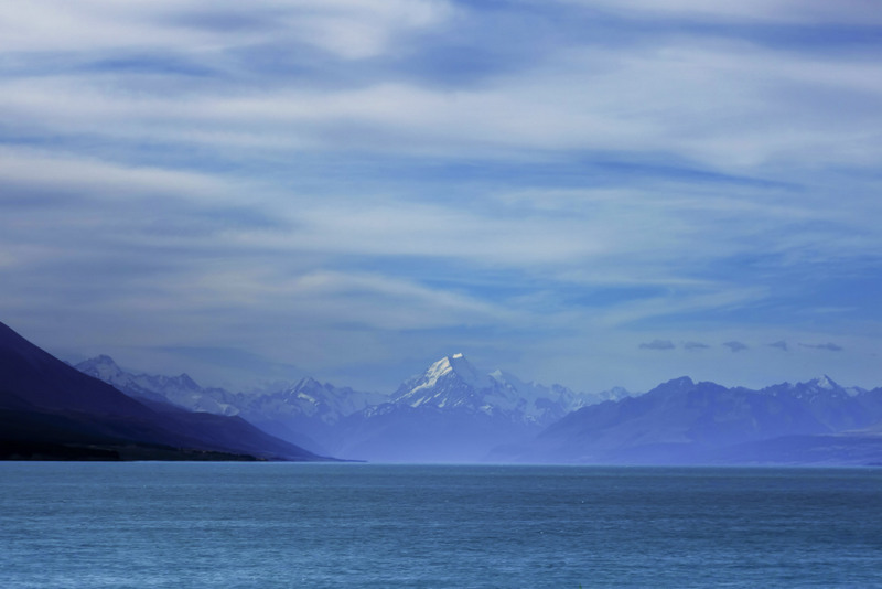 Mt Cook Lake Pukaki Highlight Südinsel Neuseeland
