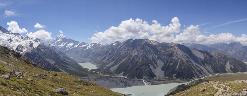 Mt Cook Mueller Hut Wanderung Highlight Neuseeland Südinsel