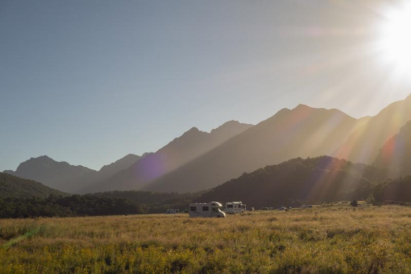 DOC Campingplatz auf dem Weg zum Milford Sound