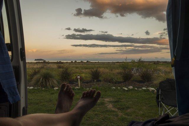 Neuseeland Reise Campervan Aussicht Abel Tasman