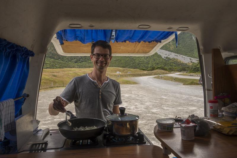Reise Kosten Neuseeland Kochen im Campervan