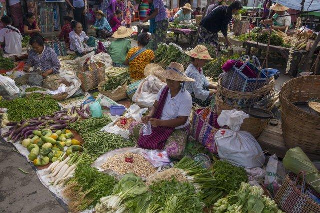 Inle See Myanmar Markt