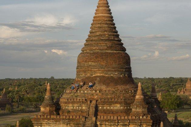 Myanmar Bagan Buledi Tempel Sonnenuntergang