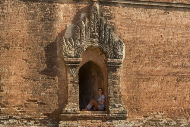 Ein Schattenplatz in Bagan