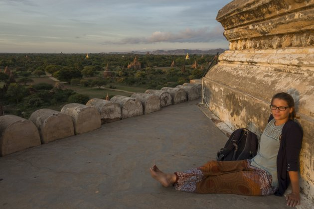 Myanmar Bagan Sonnenaufgang Shwesandaw Paya