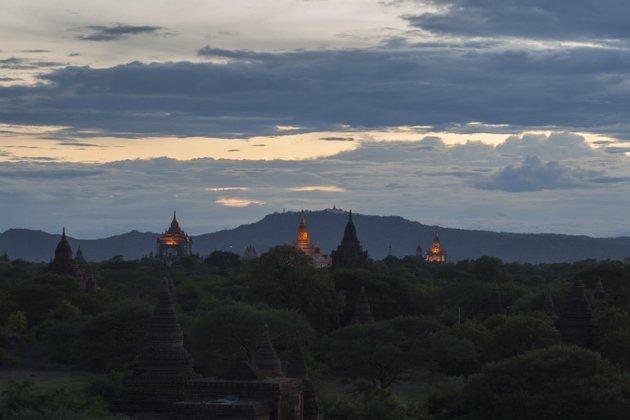 Myanmar Bagan Sonnenuntergang Buledi