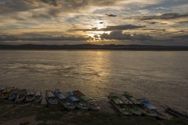 Myanmar Bagan Sonnenuntergang Bupaya