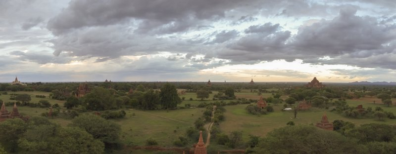 Myanmar Bagan Sonnenuntergang
