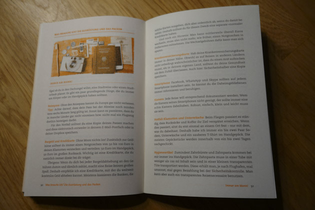 Design Buchvorstellung Backpacking-Reise
