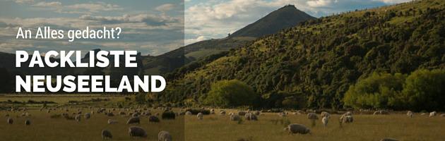 Neuseeland Packliste Banner
