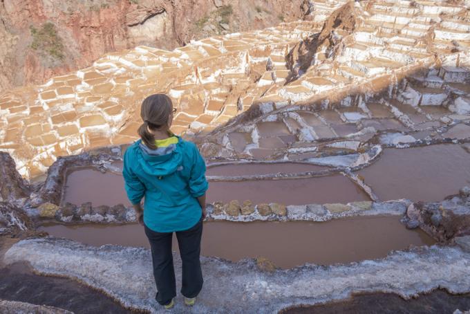 Blick auf die Salzterassen von Maras