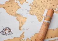 Geschenkidee Reisende Rubbel-Weltkarte
