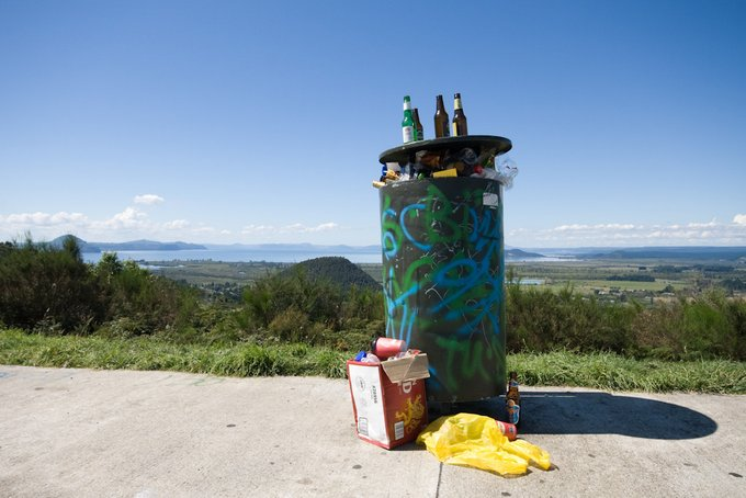 Freedom Camping Neuseeland Vermüllte Parkplätze