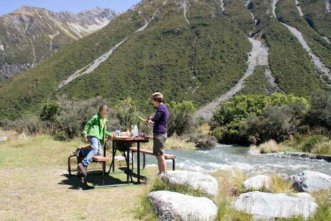 Freedom Camping Neuseeland mit Picknick-Gelegenheit
