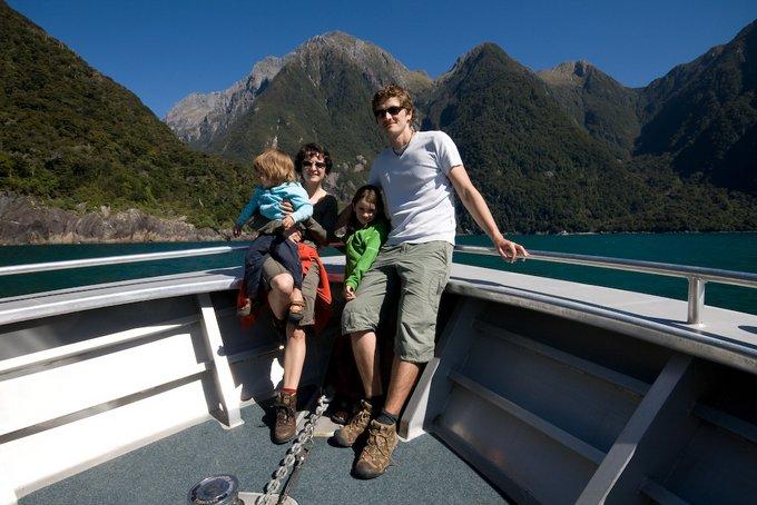 Weltwunderer Familie Milford Sound