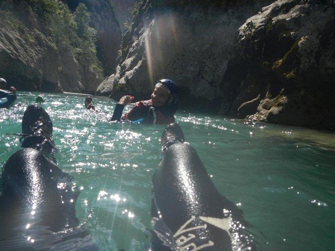 Outdoor Europa Floating Verdon Katrin und Henry Bulli verreisen