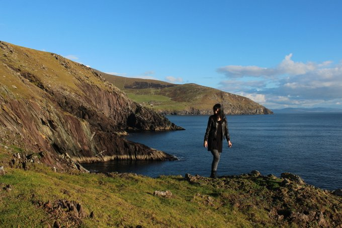 Outdoor Irland Cliff Walk Dingle Black Dots White Spots