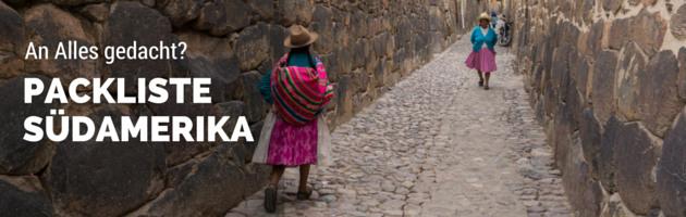 Packliste Südamerika Sidebar