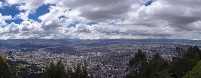 Reisekosten Kolumbien Blick vom Monserrate Bogotá