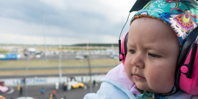 Unsere Prinzessin mit Gehörschutz