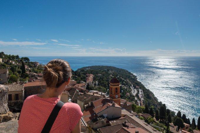 Einfach mal in Ruhe die Aussicht an der Côte d'Azur genießen