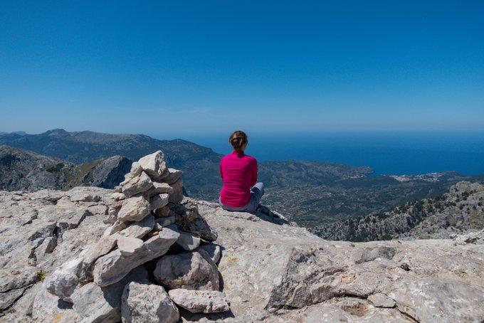 Wandern auf Mallorca Aussicht vom Puig de L'Ofre