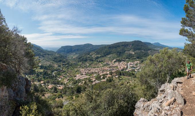 Wandern auf Mallorca Valdemossa von oben