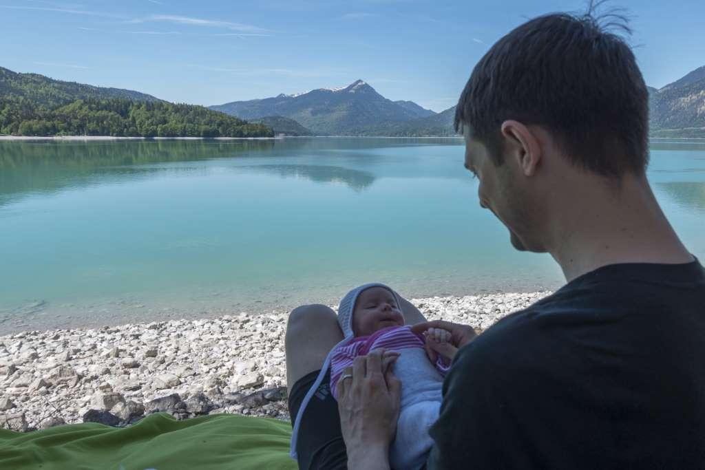 Wandern mit Baby ausgedehnte Pausen