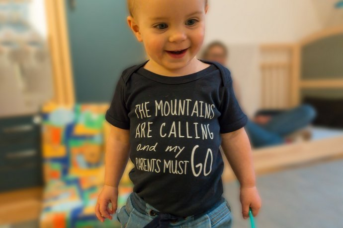 Baby Body The mountains are calling and my parents must go