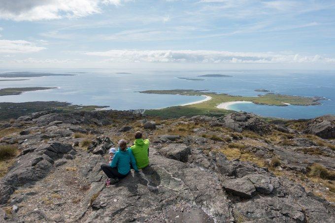 Wandern in Connemara Ausblick Errisberg